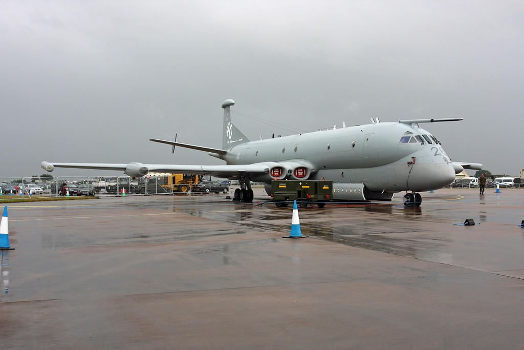 XV226 Hawker Siddeley Nimrod MR2 (RAF Fairford) Royal Air Force (RIAT 2009). Pictured at Riat 2009 - Now retired at Bruntingthorpe as part of the UK Strategic Defence review in 2011. XV226 was the first production aircraft and first flew on 28 June 1968, initially used for development work, XV226 accumulated some 479 flying hours before entering operational service on 15 January 1973