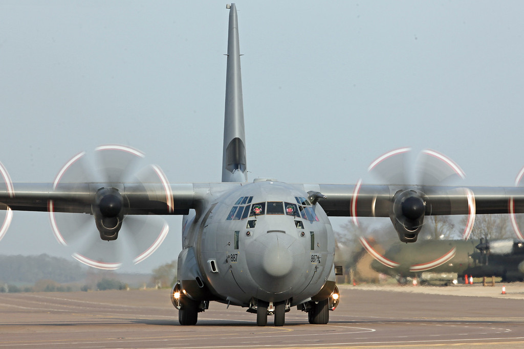 ZH887 Lockheed C-130J Hercules C5 (RAF Brize Norton) Royal Air Force [1]
