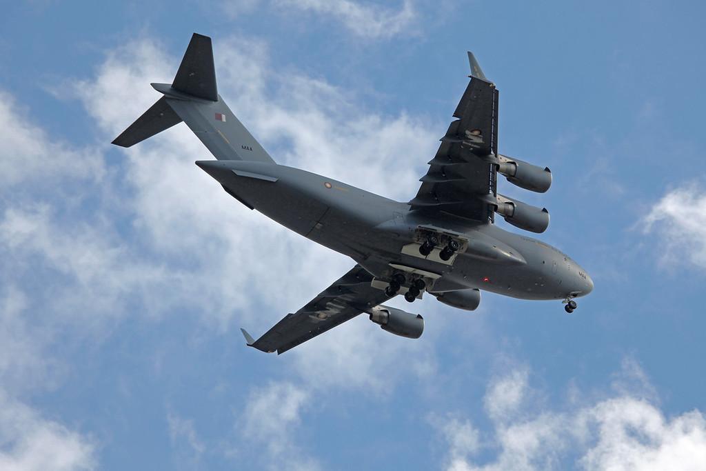 MAA Boeing C-17A Globemaster III (over Stockport on final approach to MAN) Qatar Emiri Air Force