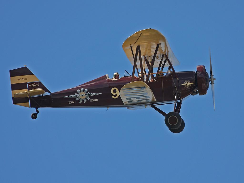 NC9125 White New Standard D25 (FA-08 Fantasy of Flight) Waldo Wright's Flying Service