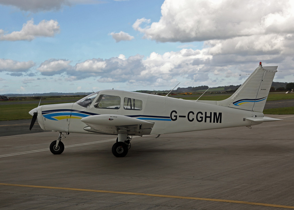 G-CGHM Piper PA38-140 Cherokee (Caernarfon) Roy Steptoe