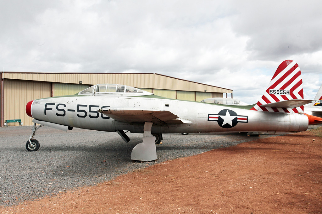 45-59556 Republic F-84B Thunderjet (559556:FS-556) Planes of Fame Grand Canyon Museum