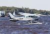 Bushland Cessna U-206E C-FBGB on the Moose River at Moosonee.