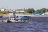 Bushland Cessna U-206E C-FBGB leaving Two Bay docks in Moosonee.