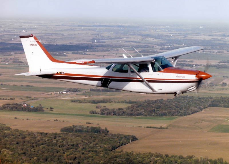 Ramona and me in 4959V...nice plane. Had to rent a second aircraft and instructor to get this photo!