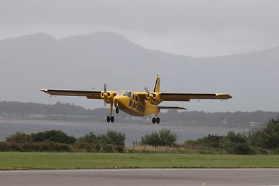 G-HEBS departs Oban International Airport