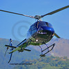 a blue light utility helicopter