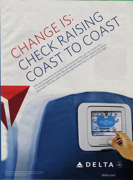 Delta Airlines ad from BusinessWeek magazein (Sep 07)