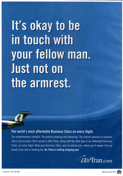 AirTran advertisement from BusinessWeek Magazine (October 1, 2007)