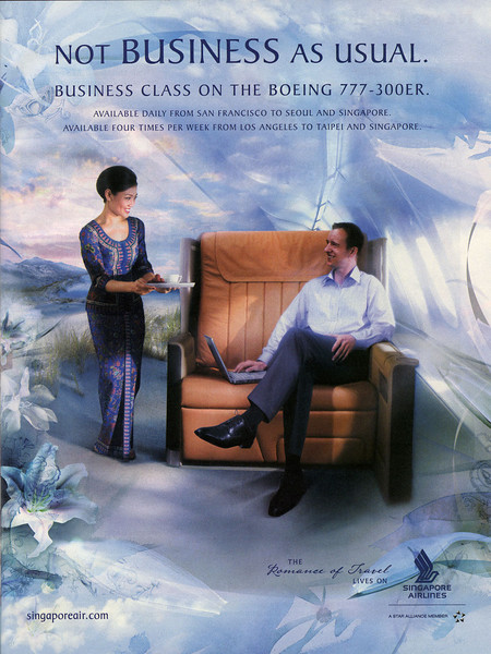 Singapore Airlines advertisement from BusinessWeek magazine (Oct 1, 2007)
