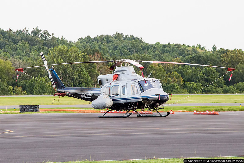 Department of Energy /  National Nuclear Security Administration (DOE/NNSA) Nuclear Emergency Support Team Bell 412 at Concord Regional Airport, in town to survey radiation levels prior to the Republican National Convention in Charlotte.