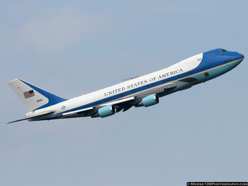 Air Force 1 departing JFK