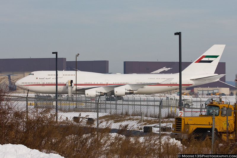 United Arab Emirates B747-400 A6-HRM, Stewart International Airport