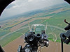 "View of bomb sight and out front nose bubble on B-17G ""Liberty Bell"" May 30, 2010. Jabara Airport, Wichita, Kansas."