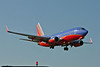 Southwest Airlines Boeing 737 on final approach into Chicago Midway Airport, summer, 2005.