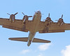 "B-17 The ""Memphis Belle"" flies overhead on final approach to landing at Jabara Airport, Wichita, Kansas June 1, 2013."