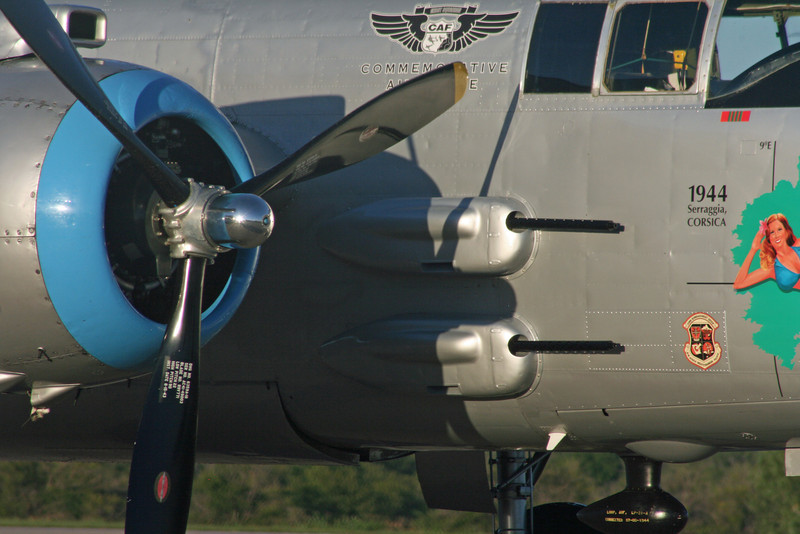 B-25J Mitchell's side fuselage guns (2 identical guns mounted on other side of fuselage).