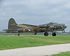 "Memorial Day weekend, 2013. This is the B-17 used in the 1990 fictionalized movie of the actual WW2 bomer ""The Memphis Belle."" According to Wikipedia, "" The aircraft was one of the first B-17 United States Army Air Forces heavy bombers to complete 25 combat missions with her crew intact."" When they wanted to make the 1990 movie, there wasn't a flyable B-17F model around. So, ""a former civilian firebomber, B-17G-85-DL, AAF Serial No. 44-83546, FAA registered N3703G, was converted into a B-17F configuration by installing a Sperry top turret, early-style tail gunner's compartment and waist gunner's positions, and omitting the chin turret.""<br /> <br />  <a href=""http://en.wikipedia.org/wiki/Memphis_Belle_"">http://en.wikipedia.org/wiki/Memphis_Belle_</a>(B-17)"