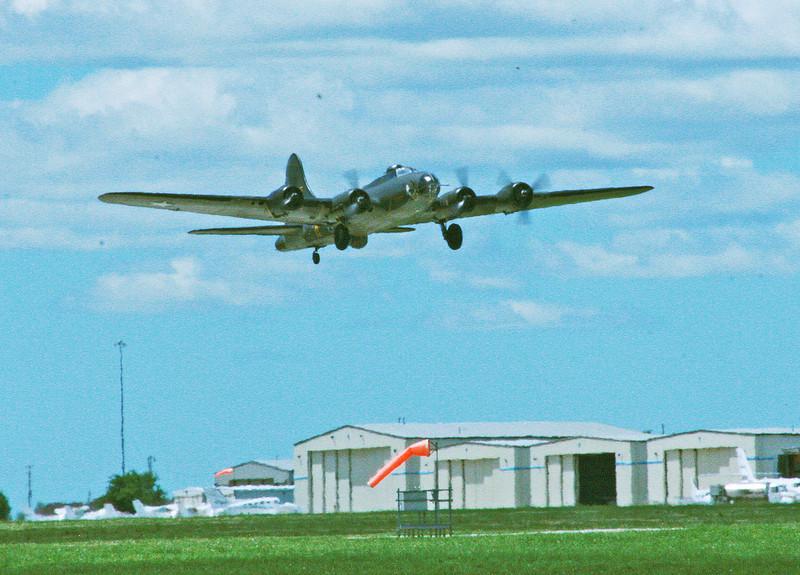 "B-17 The ""Memphis Belle"" taking off from Jabara Airport, Wichita, Ks June 1, 2013."