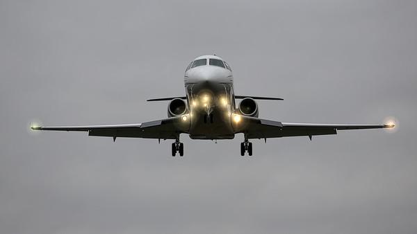 N244S Gulfstream G200 twin jet. Iowa City Municipal Airport.