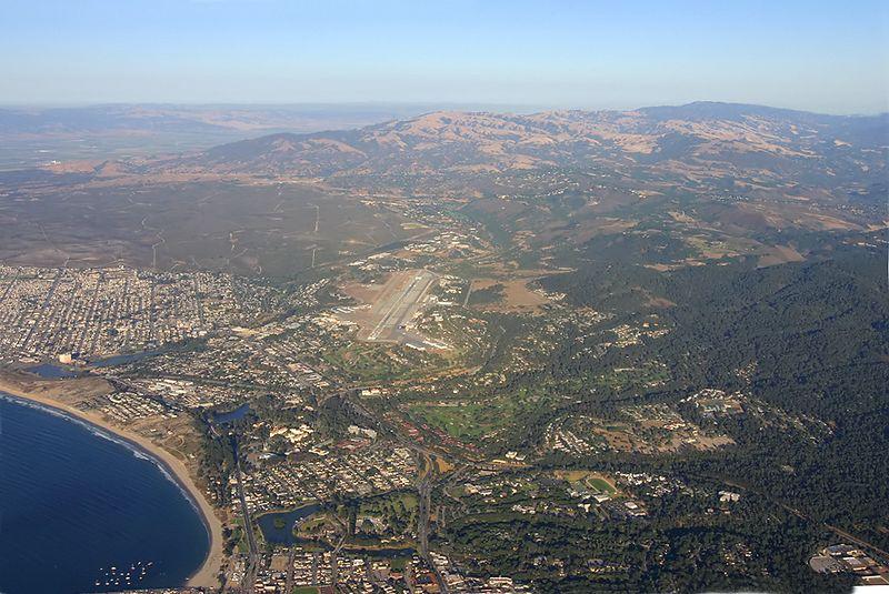 Monterey Pininusla Airport (MRY) from 5000 feet.