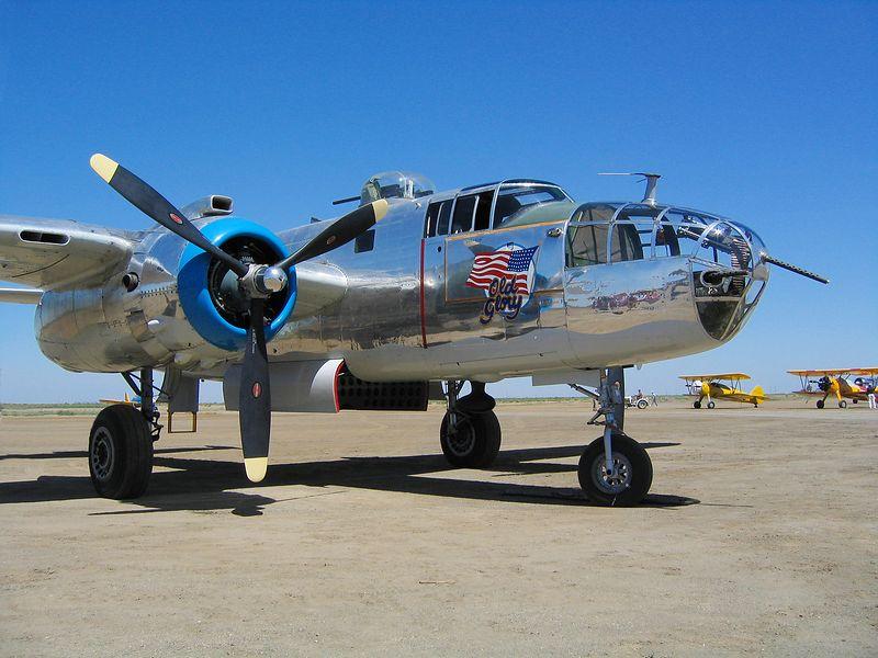 "North American B-25J Mitchell ""Old Glory"". Eagle Field Californai."