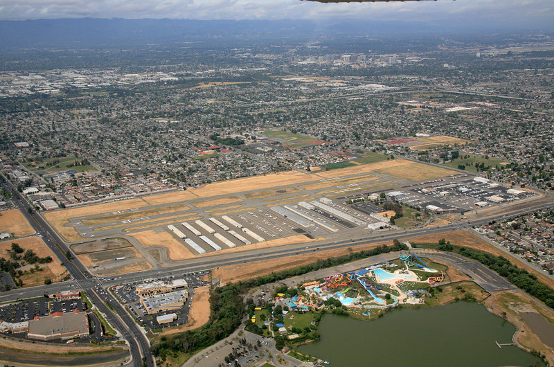 San Jose Ried Hillview Airport in Santa Clara county, California.<br /> I earned my pilots license here in 1972.