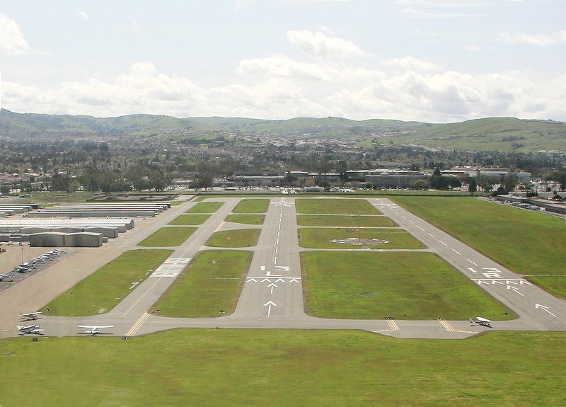 Short final to runway 13 Left at Ried-Hill View airport, San Jose, California.