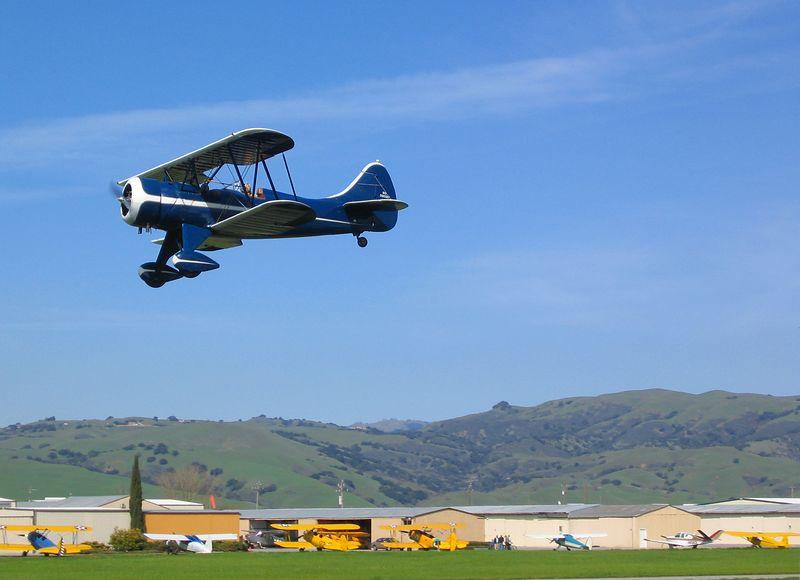 A 1941 WACO UPF-7 at  Frazier Lake, California -  March 6, 2004
