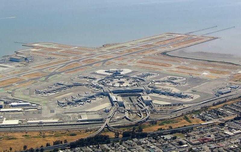 San Francisco International Airport from 3,500 feet.