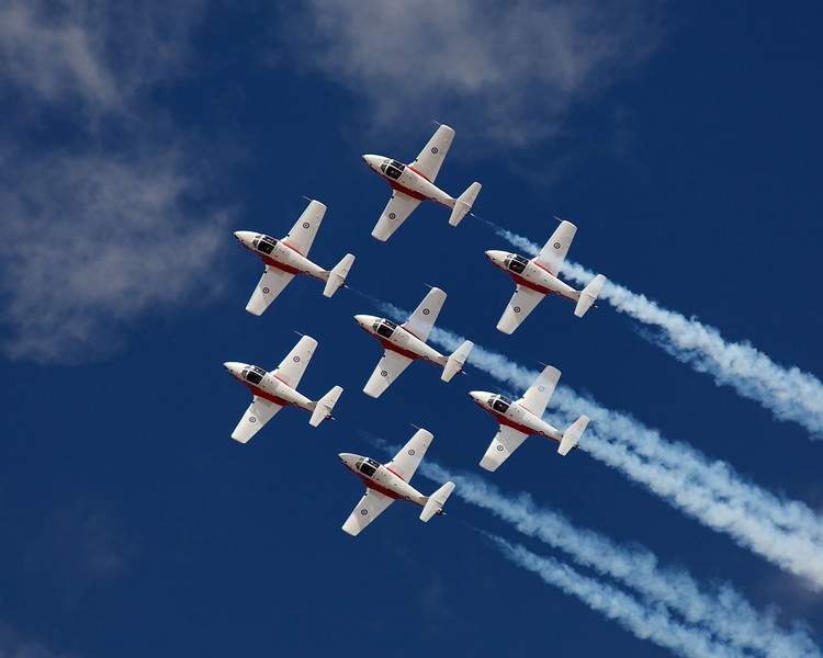 The Canadian Snowbirds performing at the 2007 Reno Air Races.