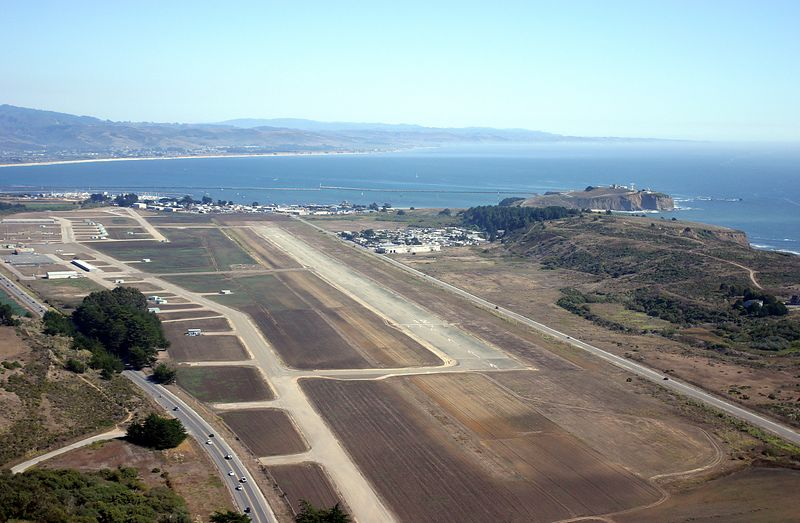 A view of Halfmoon Bay Airport (HAF) looking south east.
