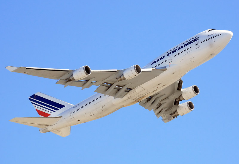 Air France Boeing 747-400 departing from San Francisco International - KSFO.