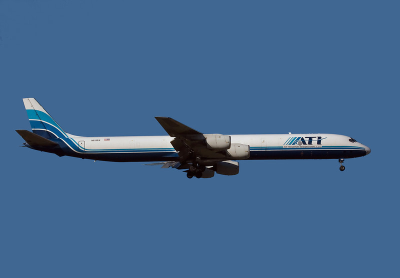 ATI, Douglas DC-8-71F, N820BX.<br /> Manufactured in 1969 and still flying.