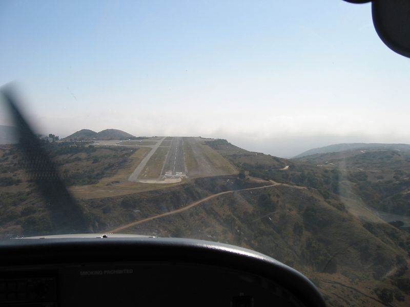 Short final to runway 22 at Catalina Airport (AVX).