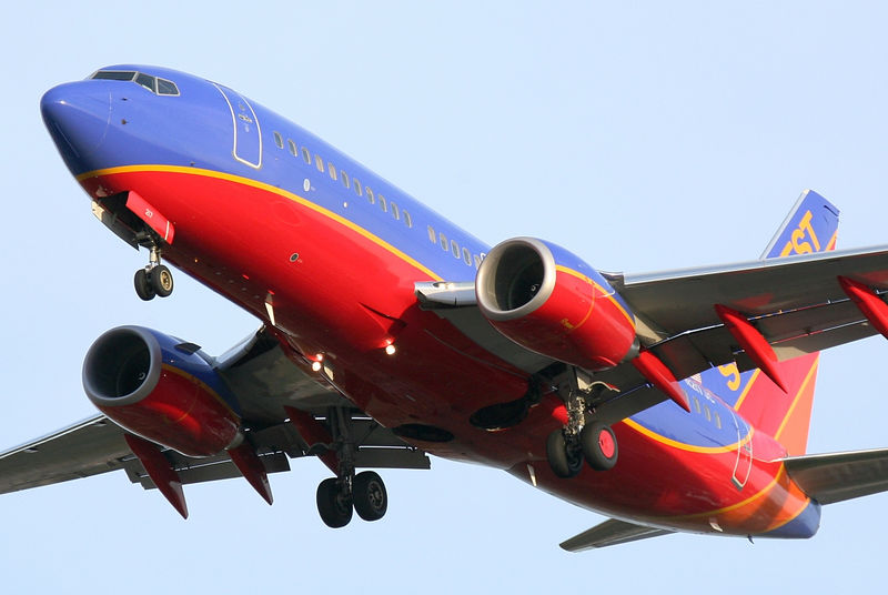 Southwest Airlines 737 registration N217JC on final approach to San Jose International.