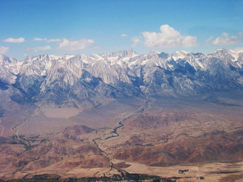 Image of Mount Whitney taken from a Cessna 172 at 11,000 feet on flight from Death Valley to Bishop California.