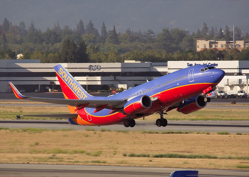 N479WN a Southwest AIrlines Boeing 737  departing from San Jose, California (KSJC)