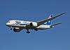 The ANA 787 arriving at San Jose California. JA813A