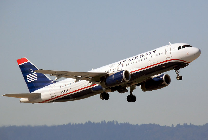 N663AW departs from San Jose CA. A US Airways A320