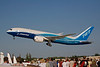 "Boeing 787-8 Dreamliner ""ZA001"" departing from the EAA Air Adventure 2011 in Oshkosh Wisconsin."