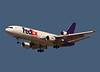 FedEx MD10 landing at San Jose, CA. KSJC