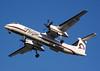 Horizon Air DHC-8-402 on short final to runway 30L at San Jose, CA. Reg. N416QX