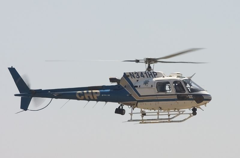 A California Hiway Patrol chopper arriving at Ried Hillview Airport in San Jose, California.<br /> Eurocopter Ecureuil AS 350B2