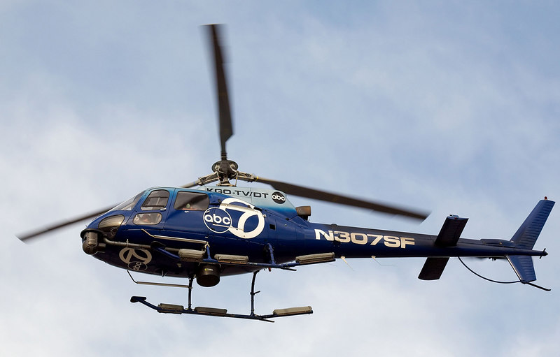 The KGO ABC7 news helicopter at San Jose Ca.