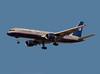 United Airlines Boeing 757 landing at San Jose, CA. KSJC - N504UA