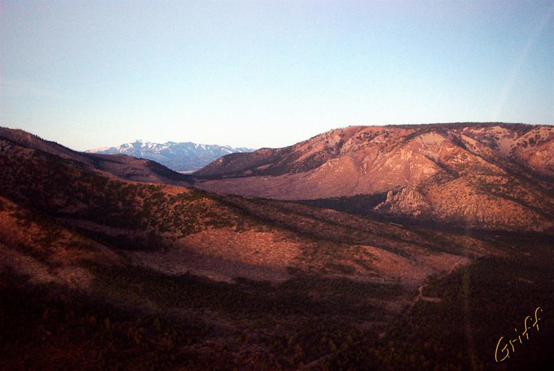View of Sierra Blanca through Capitan Pass.