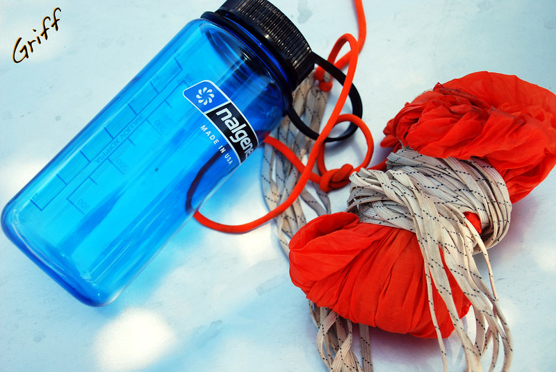 Someone say airmail?  A parachute, airplane, and 16oz Nalgene bottle... possibilities are endless.