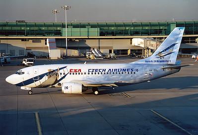 CSA - Czech Airlines   OK-DGL Boeing 737-55S MSN: 28472 London - Stansted (STN / EGSS) England, United Kingdom - September 16, 2003