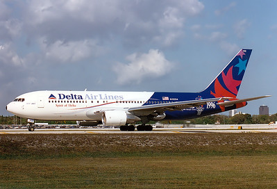 Delta Air Lines REG: N102DA Boeing 767-232 MSN: 22214 Fort Lauderdale - Hollywood Intl. (FLL / KFLL) Florida, USA - January 27, 1996